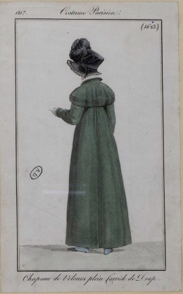 1817 Velvet bonnet and broadcloth coat