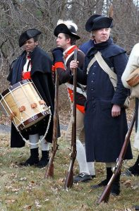 Reenactors portraying Philadelphia Associators take part in the real time tour of the Battle of Princeton, Princeton, NJ, January 3, 2015. Beverly Schaefer, Times of Trenton