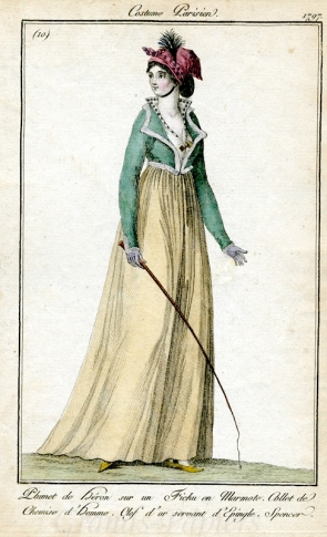 1797, with a similar shape to the Met's French silk spencer.