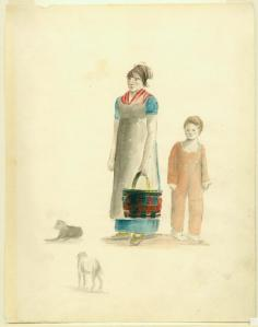 Creole woman and boy. Acc. # 1953.158.37. Watercolor and pencil on paper by Anna Maria von Phul, 1818. Missouri History Museum Collections. Von Phul 37