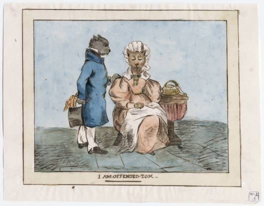 I am offended Tom. Watercolor, 1830s. Lewis Walpole Library, Drawings Un58 no. 29 Box D108