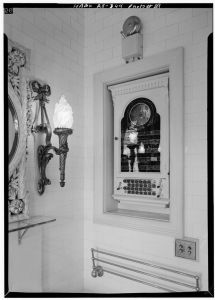 CALLBOX IN MRS. BERWIND'S BATHROOM - The Elms, Bellevue Avenue, Newport, Newport County, RI. Library of Congress, HABS RI,3-NEWP,60--29