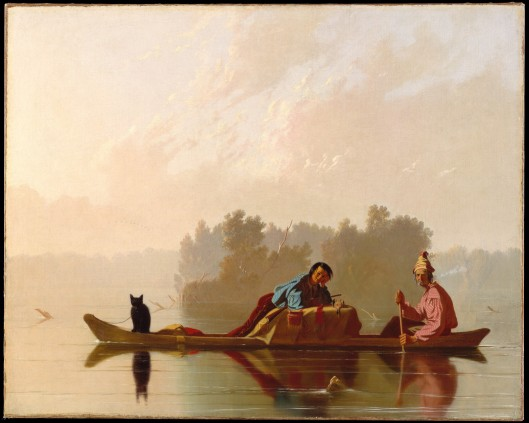 Fur Traders Descending the Missouri. Oil on canvas, George Caleb Bingham, 1845. Metropolitan Museum of Art, 33.61