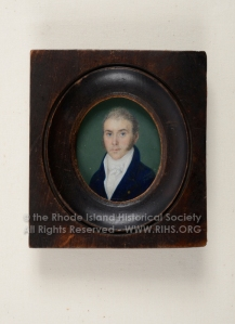 Captain John Gladding, 1810-1820. Miniature. RIHS 1980.80.1