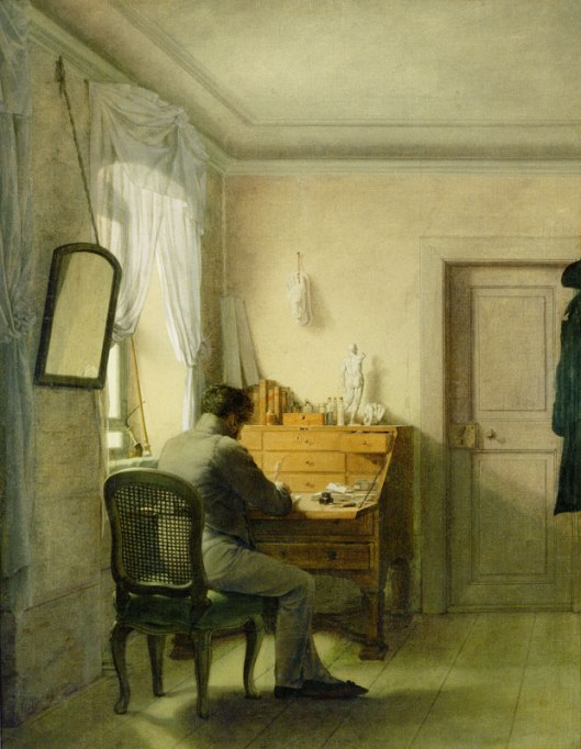 Georg Friedrich Kersting, A Man (artist) at His Desk.  1811. Klassik Stiftung Weimar, Goethe Nationalmuseum