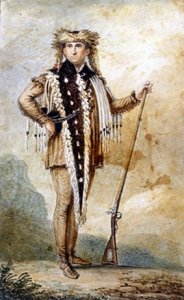 Meriwether Lewis in Indian dress. engraving after St. Memin, 1807.