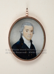 Philip Crapo, ca. 1801. Miniature attributed to Thomas Young. RIHS 1906.3.4