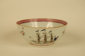 Chinese Export Porcelain bowl for the American market, 1790-1810. RIHS collection