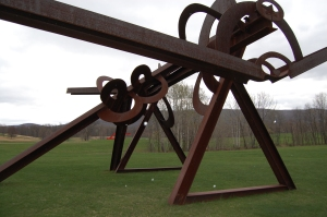 Mozart's Birthday: another di Suvero, with snow. Snow!