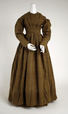 Dress Date: 1830s Culture: American Medium: wool Dimensions: Length at CB: 53 1/2 in. (135.9 cm) Credit Line: Gift of John Eastman and Gerard L. Eastman, 1976 Accession Number: 1976.209.2