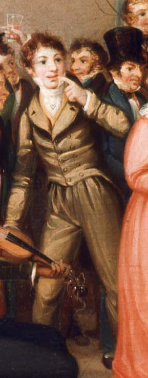 Detail, Rustic Dance After a Sleigh Ride, 1830. William Sidney Mount. MFA Boston 48.458