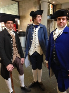 Three gentlemen at the Providence Station