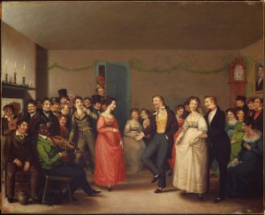 Rustic Dance After a Sleigh Ride, 1830. William Sidney Mount MFA Boston 48.458