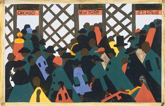 JACOB LAWRENCE (1917–2000) The Migration of the Negro, Panel no. 1, 1940-1941. The Phillips Collection, Acquired 1942 © The Estate of Gwendolyn Knight Lawrence / Artists Rights Society (ARS), New York.