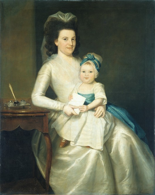 Lady Williams and Child, oil on canvas by Ralph Earl, 1783. Metropolitan Museum of Art, 06.179