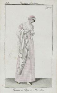 Costume Parisien 1808 Cornette et Robe de Marcelline