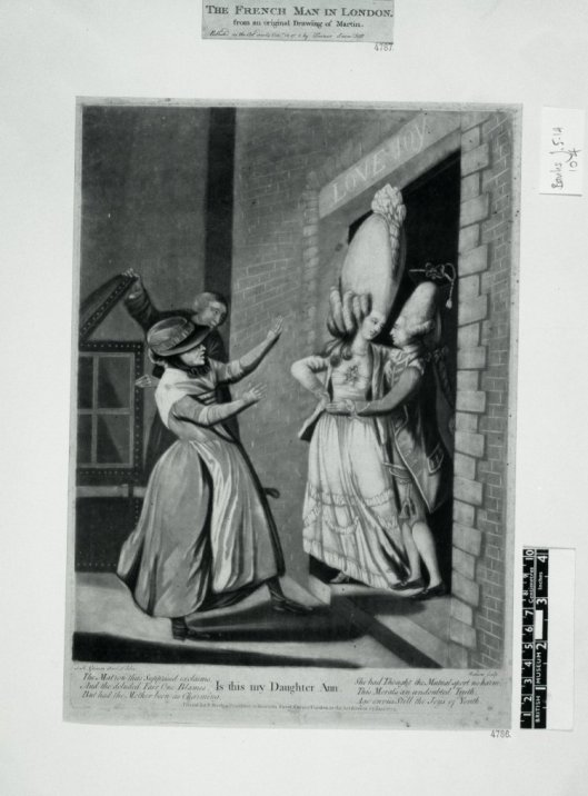 Is this my Daughter Ann, mezzotint by James Watson after S. H. Grimm, published by Sarah Sledge, 1774. British Museum J,5.104