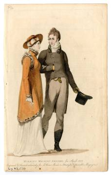 Men's Wear 1790-1829, Plate 002, 1807. Gift of Woodman Thompson Costume Institute Fashion Plates Metropolitan Museum of Art