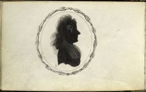 Carl H. Pforzheimer Collection of Shelley and His Circle, The New York Public Library. (1795 - 1834). Portrait silhouette.