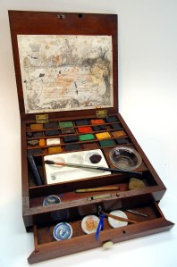Thomas Reeves & Son Artists watercolor paint box c. 1784 to 1794. Whimsie Virtual Museum of Watercolor Materials