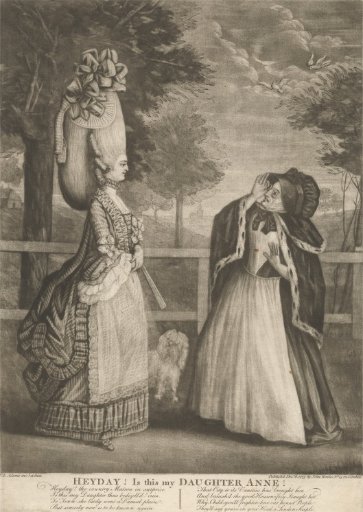 Print made by Francis E. Adams, active ca.1760–1775, British, Heyday! Is This My Daughter Anne!, 1773, Mezzotint and etching on medium, moderately textured, cream laid paper, YCBA, B1970.3.820