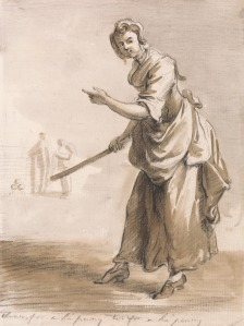 Paul Sandby RA, 1731–1809, British, London Cries: Throws for a Ha'penny Have You a Ha'penny, undated, Brown wash, gray wash, graphite, and black chalk on medium, cream, slightly textured laid paper, Yale Center for British Art, Paul Mellon Collection