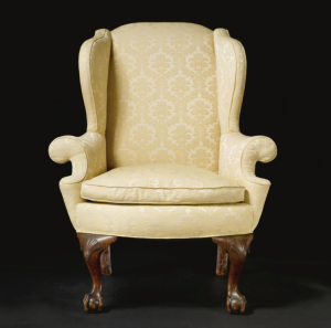 Sotheby's Sale 8278, Lot 586. Easy Chair, Philadelphia ca 1770