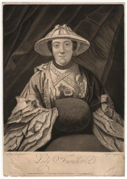 Anne (née Day), Lady Fenoulhet by Richard Purcell (Charles or Philip Corbutt), after Sir Joshua Reynolds, mezzotint, (1760) National Portrait Gallery UK D1939