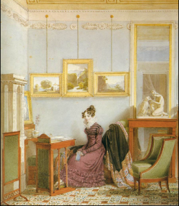 Johann Ender, Woman at her writing desk ca 1820