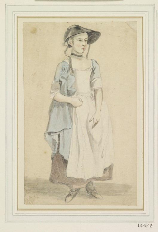 A young girl, standing 1760-1780. Paul Sandby, Royal Collection Trust/© Her Majesty Queen Elizabeth II 2014