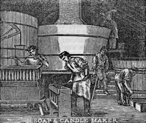 The Soap Boiler and Candle Maker. Popular Technology or, Professions and Trades.