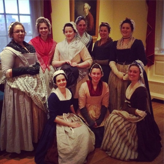 The Women of the 2017 Boston Massacre commemoration. Photo by Drunk Tailor at the behest of Our Girl History