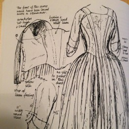 1750-1770 gown, Fashion in Detail
