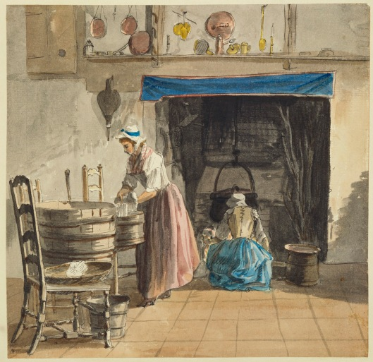 Paul Sandby. At Sandpit Gate circa 1752 Pencil, pen and ink and watercolor. RCIN 914329