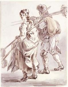 Mop sellers, red chalk on paper, Paul Sandy, 1759. Museum of London 65.59/5#sthash.EaUTT9dg.dpuf