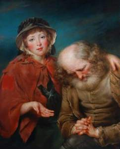 Russell, John; The Blind Beggar and His Granddaughter; The Bowes Museum;