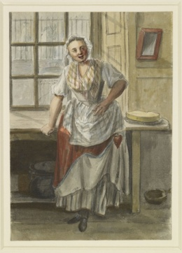 Paul Sandby (1731-1809) A kitchen scene circa 1754 Pen and ink and watercolour | RCIN 914332