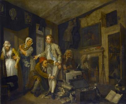 The Heir: Tom Finds New Wealth. William Hogarth.