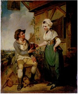 At the Inn Door, oil on canvas by Henry Singleton, ca. 1780, V&A Museum 1834-1900