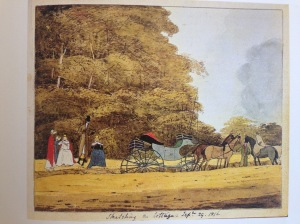 Sketching a Cottage, Sept 29, 1816. Watercolor by Diana Sperling
