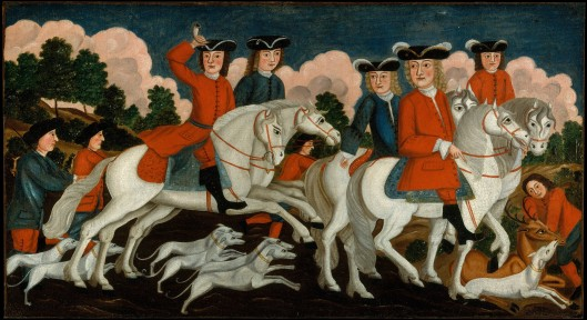 The Hunting Party- New Jersey. oil on canvas ca 1750. MMA 1979.299