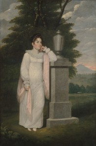Mrs. Cephas Thompson (Olivia Leonard). Oil on canvas by Cephas Thompson, 1810-1820. MMA, 1985.22