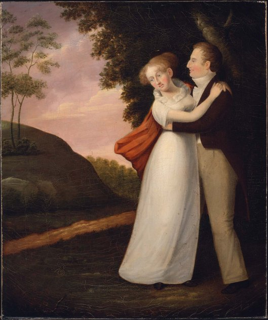 The Frightened Girl, oil on canvas by Cephas Thompson ca. 1810. MFA Boston, 1986.397