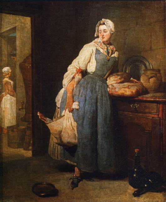 La Pourvoyeuse, oil on canvas by Jean-Simeon Chardin, 1739. Louvre Museum.