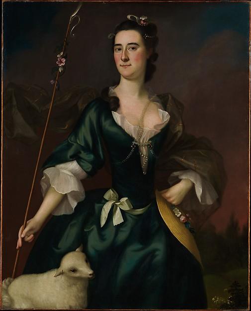 Mary Sylvester, oil on canvas by Joseph Blackburn, 1754. Metropolitan Museum of Art, 16.68.2