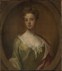 Lady Mary Berkely, wife of Thomas Chambers. oil on canvas by Sir Godfrey Kneller, ca. 1700. Metropolitan Museum of Art, 96.30.6