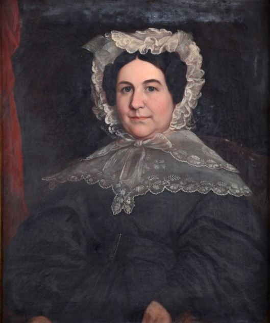 Mrs Russell Warren, oil on canvas by Henry Cheever Pratt ca 1824. RIHS 1917.8.2
