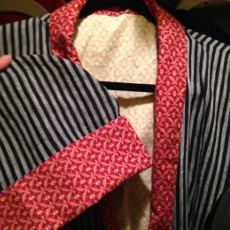 A lining in two colorways.
