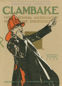 Clambake, International Association of Fire Engineers, 1916. RIHS Graphics Collection G1173