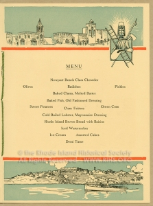 Menu, International Association of Fire Engineers, 1916. RIHS Graphics Collection G1173